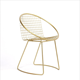 modern french simple style metal wire garden chairs