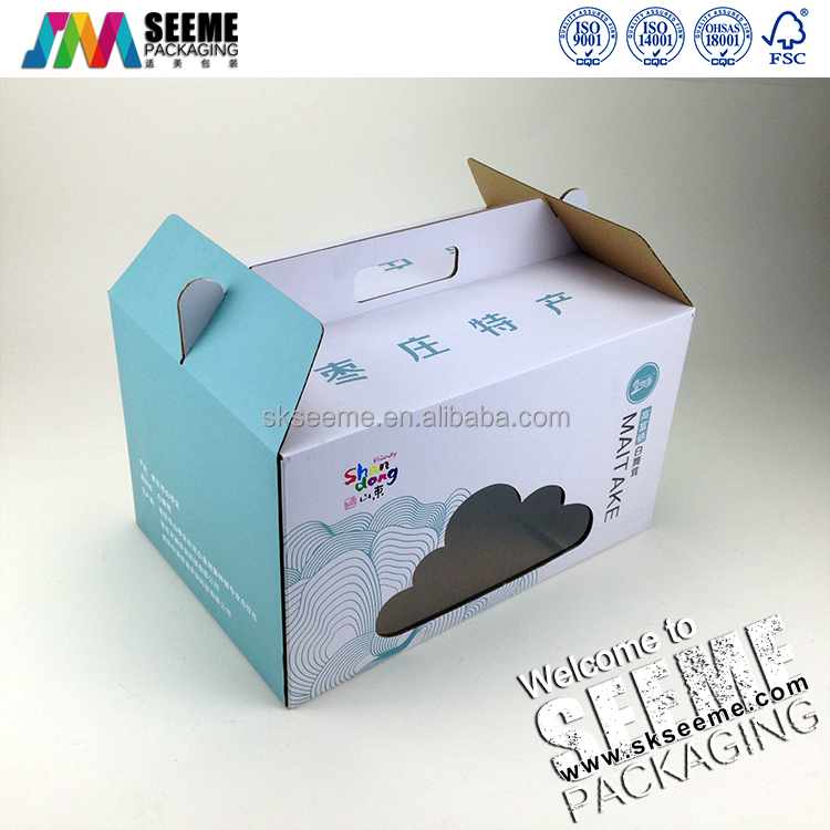 custom Mushrooms packaging boxes Local food packaging boxes with handle