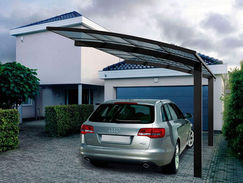 Aluminum Car Canopy : Anti uv aluminum car garage polycarbonate roofing for