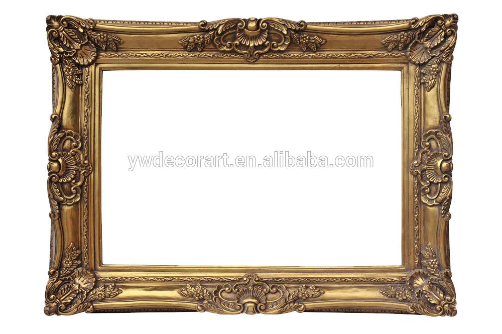 de madera tallada superior marco de pintura para el arte de la pared ...