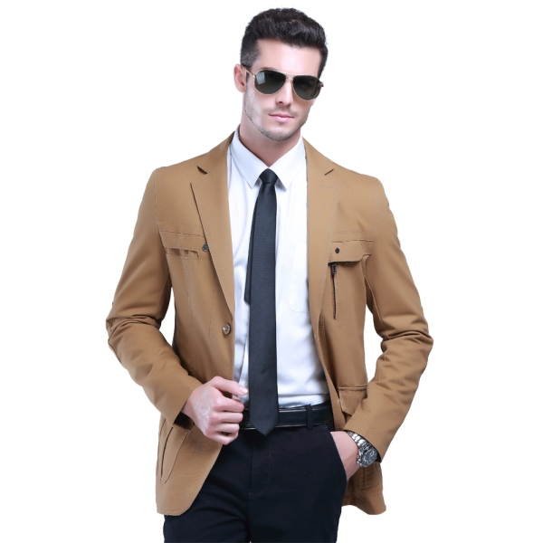 2015 New Arrival Man Formal Blazers Business Suit Jackets Size M-3XL Stylish Man Slim Fit Blazers Spring Autumn Outdoor Suit