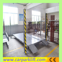 Four post stacker parking lift pallet stacking system