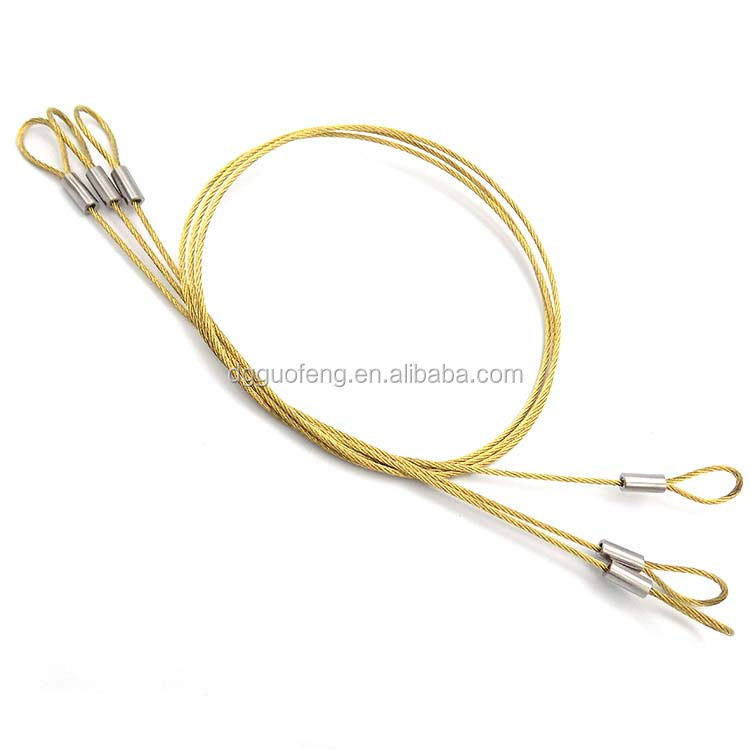 Golden Plated Stainless Steel Wire Tool Lanyard Both Side With Loop ...