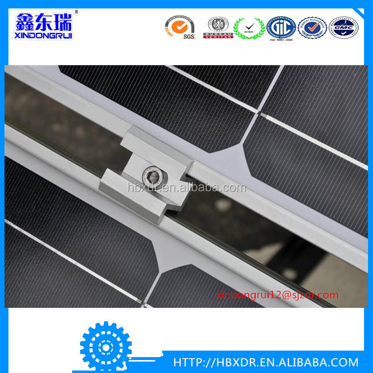 Anodized aluminum solar panel frame materials