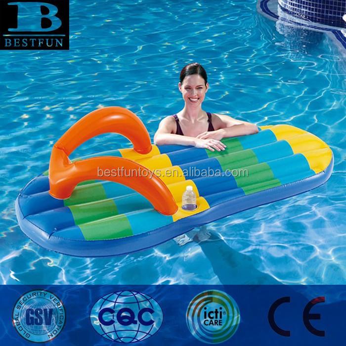 Opblaasbaar zwembad met drijfmiddelen plastic sandalen for Zwembad plastic