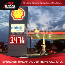 Programmable P10 red outdoor advertising led display screen prices for gas petrol station