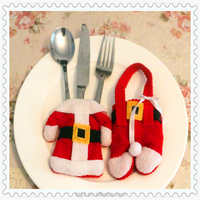 Wholesale New Hotel Restaurant Christmas Table Decor Christmas Table Decoration With Little Red Santa Claus Costume