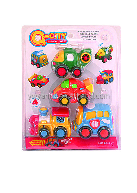 Hot selling friction vehicle,mini car/bus/Locomotive/racing car toy