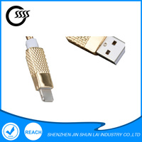 Custom factory supply rose gold usb caharging data cable for iphone