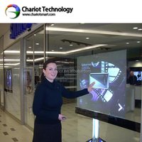 ChariotTech interactive touch film, soft touch film, touch foil screen for window glass display