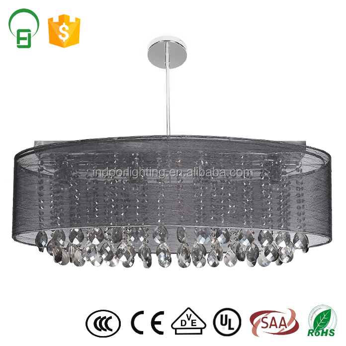 Zhongshan factory Chinese K9 crystal pendant chandelier UL CE approval