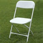 plastic folding chair with reinforced metal frame