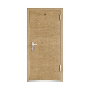 Metal Hotel Room Security Entry MDF Safety Apartment Exterior Office Front Security Steel Door Design