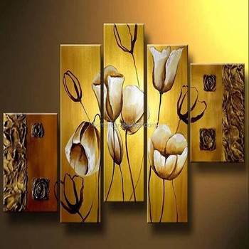 Good quality tulip flower canvas oil paintings for home hotel wall art decoration & Good Quality Tulip Flower Canvas Oil Paintings For Home Hotel Wall ...