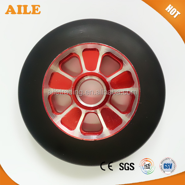 High Quality High Reboud Metal Core Rubber Wheels For Kick Scooter
