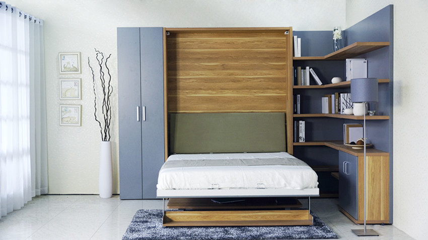 Space Efficient Bedroom Furniture: High Quality Folding Wallbed,Hidden Wall Bed Murphy Bed