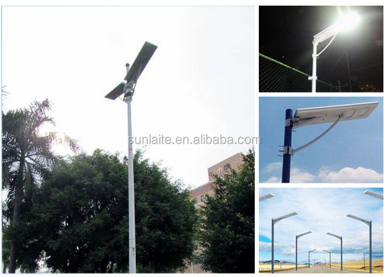 60W IP65 Motion Sensor PIR Integrated All in One Solar Led Street Light with 90W Photovoltaics Panel Battery