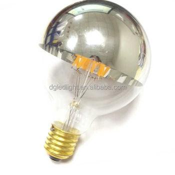 Wholesale low energy saving G25/G80 led filament half chrome ...