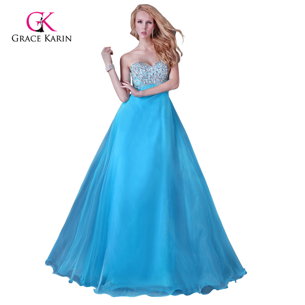 2015 Grace Karin Black/Blue Beaded Evening Gown Cheap Crystal Prom Dress Long Formal Dress for Party vestido longo 3107