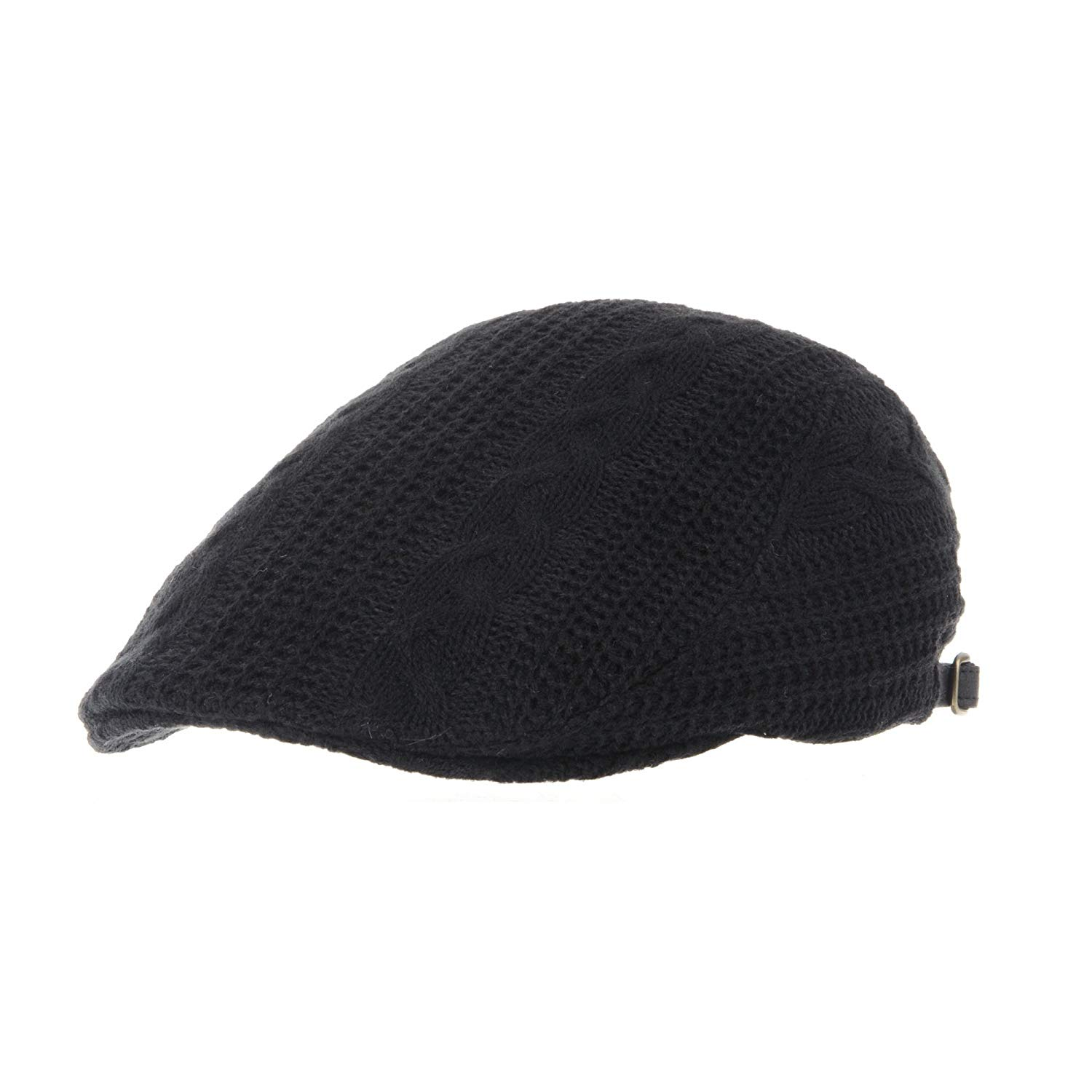 Get Quotations · WITHMOONS Knitted Twisted Cable Pattern Newsboy Hat Flat  Cap LD3157 e0aa449a5a82