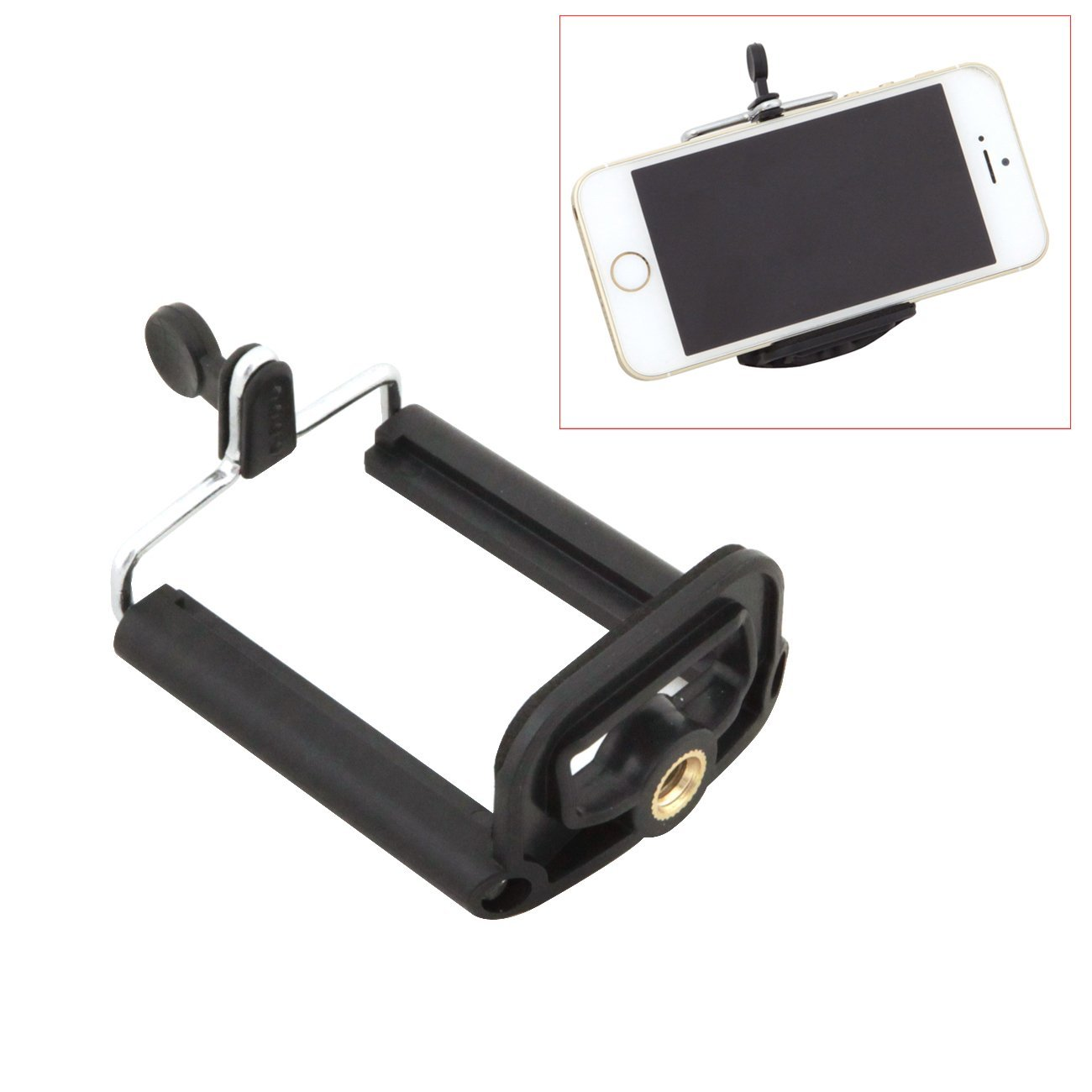 TARION® Cell Phone Mount Clamp Clip for Self Portrait iPhone Samsung HTC Xiaomi