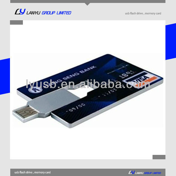 usb flash card 2 gb,credit card USB ,custom printed card thumb drives 4gb