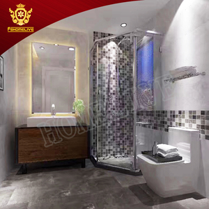 Bathroom Shower Room Free Standing French Spare Parts Walk In 3 Sided Shower Enclosure
