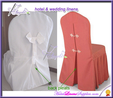 Made in Nantong China white basic polyester universal chair covers for wedding chairs