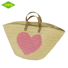 Fashion China wholesale custom paper summer straw tote bag factory priced straw bag for beach