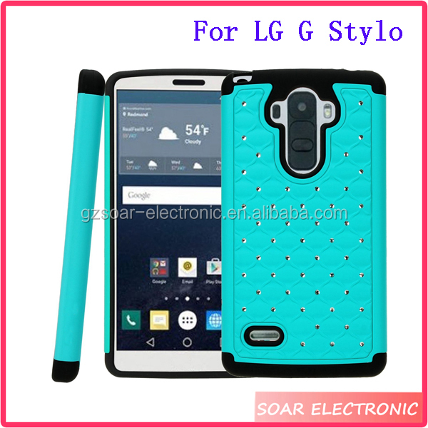 promo code f61da a415c New Arrival Bling Crystal Hybrid Case Cover For Lg G Stylo/lg G4 Stylus  Ls770 - Buy Case Cover For Lg G Stylo/lg G4 Stylus Ls770,Bling Crystal Case  ...