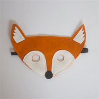 Handmade Pretend Dress up Woodland Friends felt fox mask