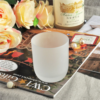 Wholesale Decorative Frosted Glass Candle Holder