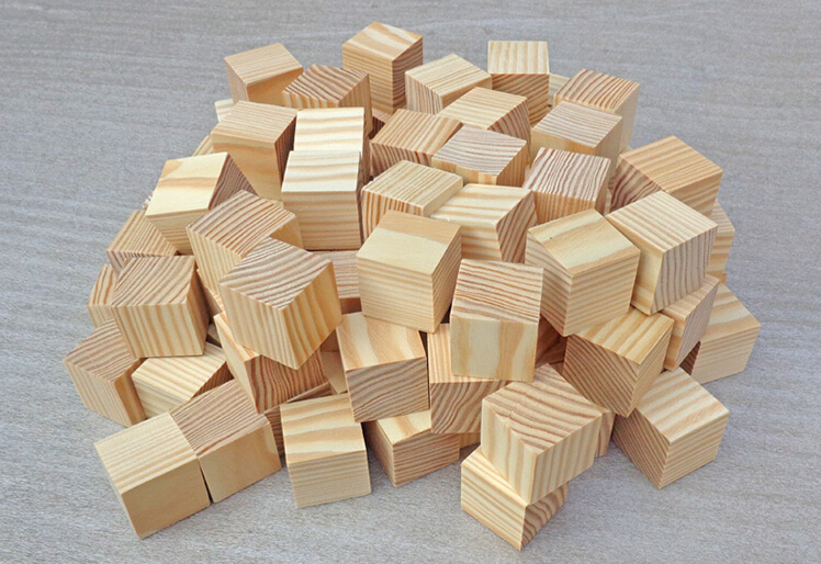 Natural unfinished pine wood craft wood blocks 35mm wooden for Unfinished wood pieces for crafts