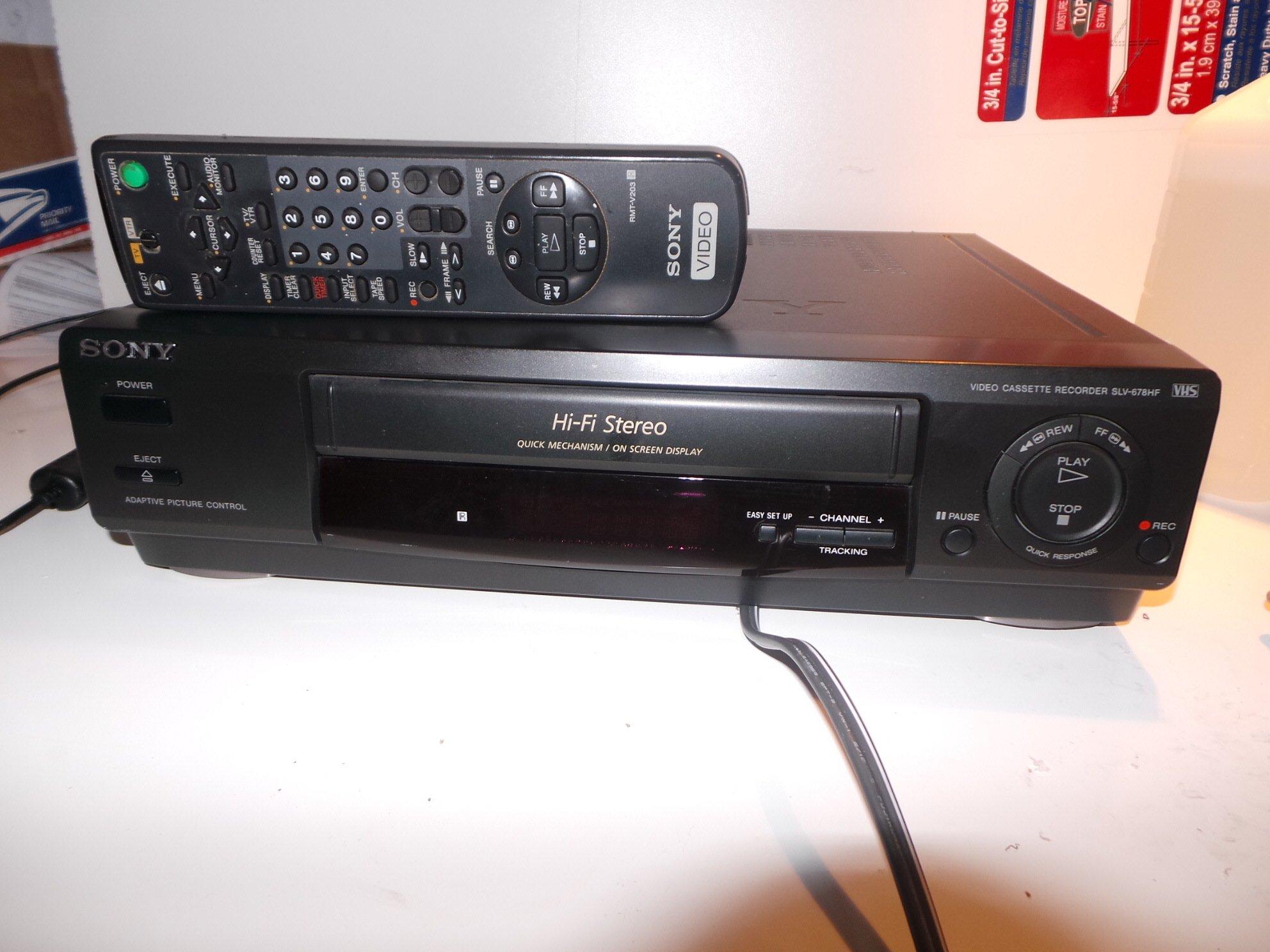 Sony Slv-678hf, Hi-fi Stereo,quick Mechanism, on Screen Display, Player & Recorder