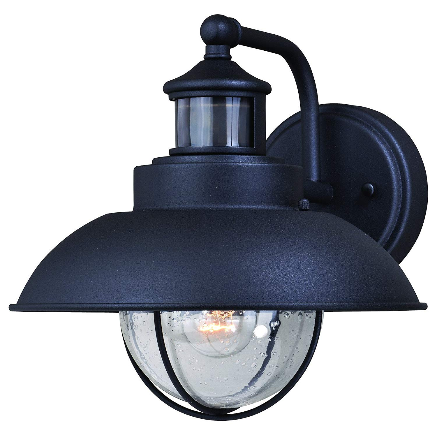 Harwich Dualux 10In. Outdoor Wall Light Textured Black