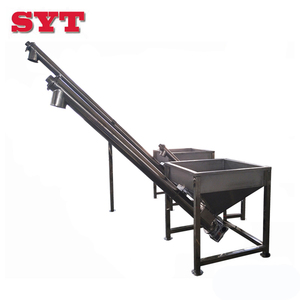 China factory unloader hopper vertical screw conveyor / auger spiral conveying machine