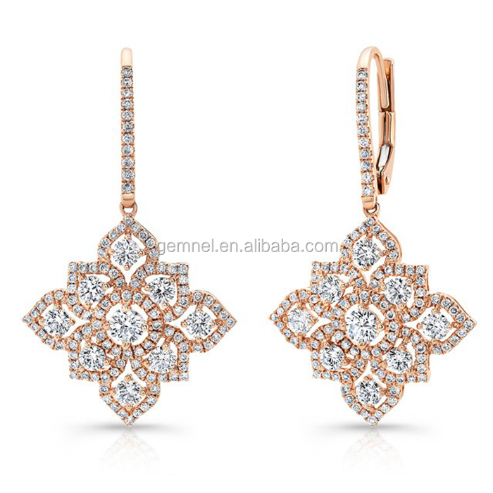 Fancy Earring Designer Dubai Gold Jewelry Earring Drop Gold Ear ...