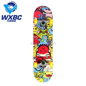 31*8inch high quality maple pu wheels skate long board skateboard