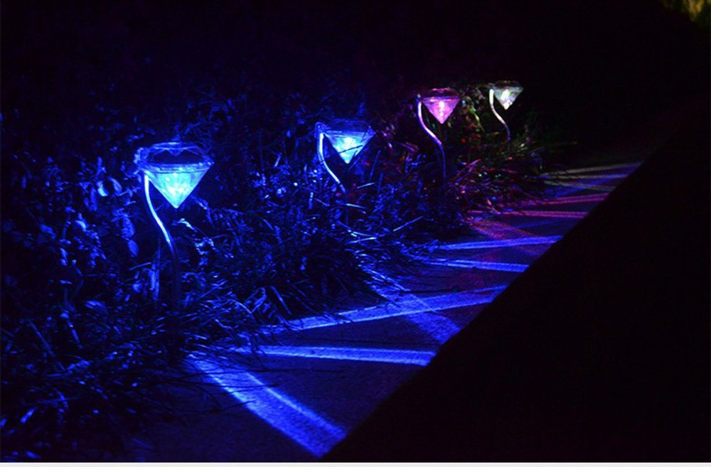 New Waterproof Solar Wall Lamps High Bright Led Solar Outdoor Garden Yard Path ABS Solar Led Path way Lights