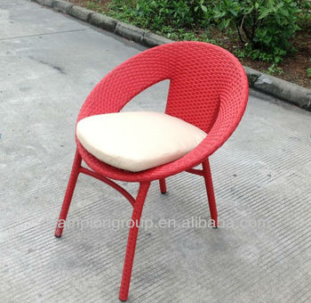 Egg Design Round Outdoor Chair With Good Cushion For Garden Furniture
