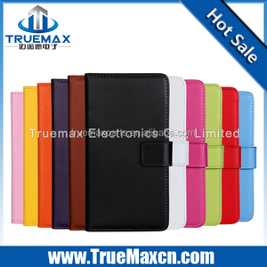High quality case for HTC Desire 610 Plain Pattern Real Leather Case
