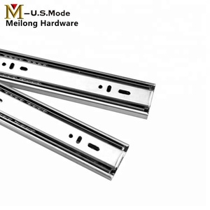 60G High Quality Kitchen Cabinet Three Sections Heavy Duty Drawer Slide Channel/Vertical Sliding Rail/Correderas Telescopicas