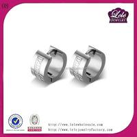 Best selling feather earrings for men cuff earrings in stainless steel jewelry fashion