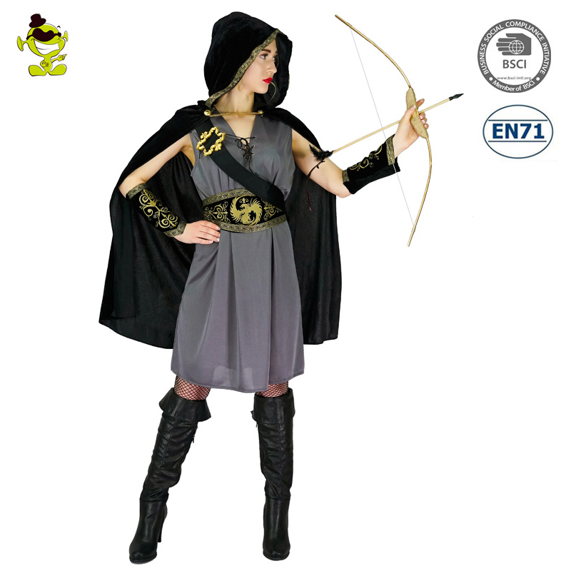 Picture Show 2017 New Adultu0027s Womenu0027s Hunter Costume Robin Hood Halloween Jungle Hunter Costume For Party  sc 1 st  Alibaba & 2017 New Adultu0027s Womenu0027s Hunter Costume Robin Hood Halloween Jungle ...