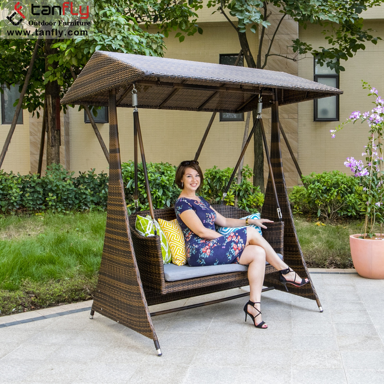 2 Seater Swing Chair Canopy