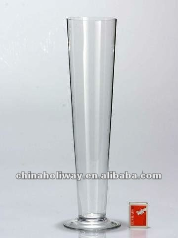Plain Tall Cone Glass Vasecrystal Vase Buy Plain Glass Vasecone