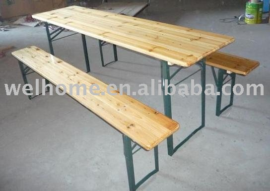 Hot Sale Wood Folding beer table set
