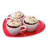 Bake 'n' Serve Tea Cup Cakes,Silicone,Set of 4