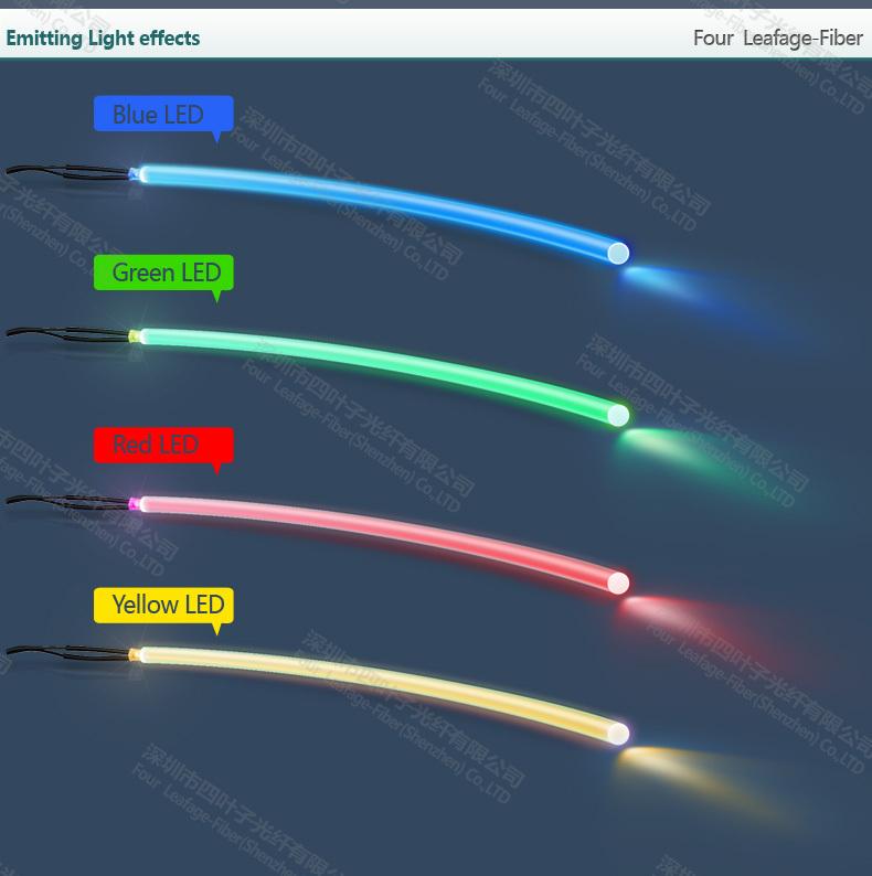 2mm Soft Side Glowing Tpu Raw Materials Optic Fiber Led Flashing ...