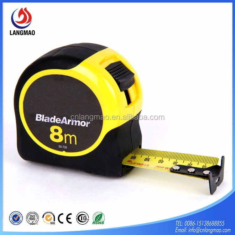 Top selling 3m 5m 7.5m 8m 10m rubber coat ABS measuring tape with logo